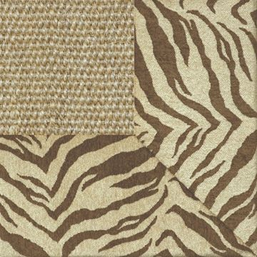 772-189 Brown Zebra Border